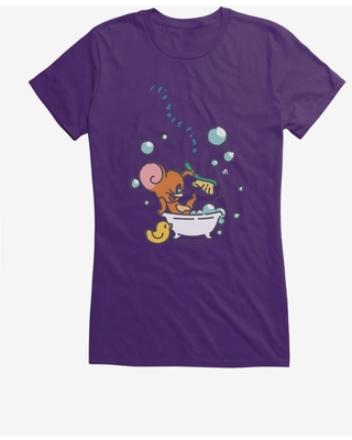 Tom and Jerry It's Bath Time Jerry Girls T-Shirt