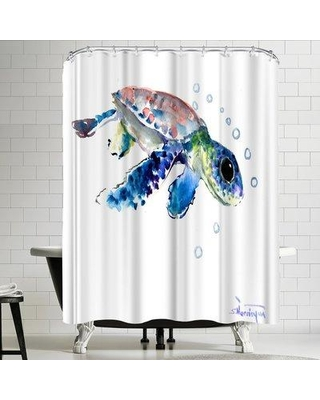 Amazing Deal On East Urban Home Suren Nersisyan Baby Sea Turtles 1 Single Shower Curtain Polyester In Pink Size Standard 72 X 72 Wayfair Urbr4389 41339859