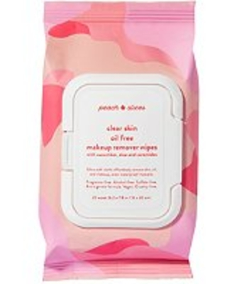 Peach Slices Clear Skin Oil Free Makeup Remover Wipes