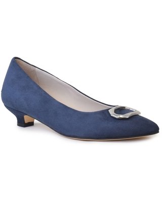 Amalfi by Rangoni Adelina Pointed Toe Pump, Size 6.5 in Moss Cashmere Suede at Nordstrom
