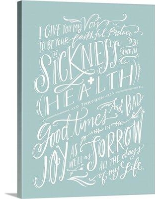 """Winston Porter Giclee 'Traditional Vows' Graphic Art Print X112719917 Format: Wrapped Canvas Size: 48"""" H x 35"""" W x 1.5"""" D"""