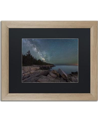 """Trademark Art 'Around the Bend' Framed Graphic Art on Canvas ALI2384-T1 Matte Color: Black Size: 16"""" H x 20"""" W x 0.5"""" D"""