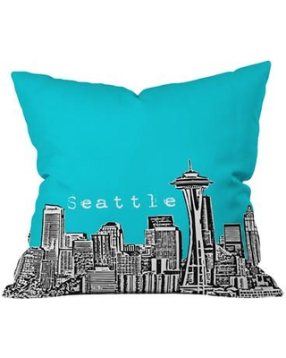 """Deny Designs Bird Ave Seattle Throw Pillow 13612/13613-thr Size: 20"""" x 20"""" Color: Teal"""