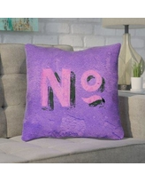 "Brayden Studio Enciso Graphic Square Indoor Wall Throw Pillow BYST5106 Size: 16"" x 16"", Color: Purple/Pink"