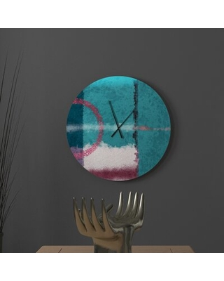 Check Out Some Sweet Savings On Inquisitive Well Known Abstract Metal Wall Clock Latitude Run Size Large