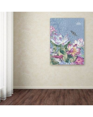 """Trademark Art 'Jaslyn' Graphic Art Print on Wrapped Canvas ALI12249-C Size: 24"""" H x 18"""" W"""
