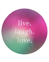 Shop Deals For East Urban Home Multicolor Background Live Laugh Love Quote Poly Chenille Rug Chenille In Purple Size Round 5 Wayfair