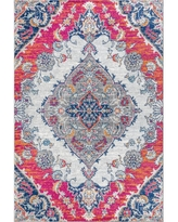 The Best Sales For Jonathan Y Bohemian Flair Boho Vintage Medallion Pink Cream 5 Ft X 8 Ft Area Rug