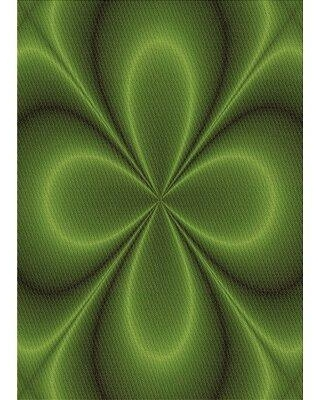 East Urban Home Wool Green Area Rug X111430697 Rug Size: Square 4'