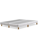 Greaton-4 inch Traditional Split Wood Box Spring / Foundation with Legs for Mattress, Queen Size