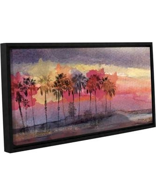 "Latitude Run California Sunset Framed Painting Print on Wrapped Canvas LTRN5162 Size: 12"" H x 24"" W x 2"" D"