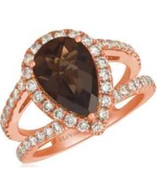 Le Vian Strawberry Gold 2 5/8 ct. t.w. Chocolate Quartz and 1 ct. t.w. Nude Diamonds™ Ring in 14k Strawberry Gold