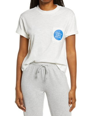 Women's Ban. do State Of Calm Boxy Graphic Tee, Size Medium - Ivory