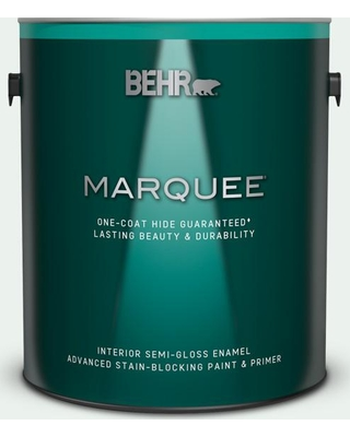 BEHR MARQUEE 1 gal. #W-D-500 Cascade White Semi-Gloss Enamel Interior Paint and Primer in One