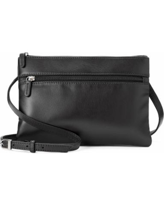 b4f1d302a Amazing Deal on Ili Double Entry Leather Crossbody Bag, Black