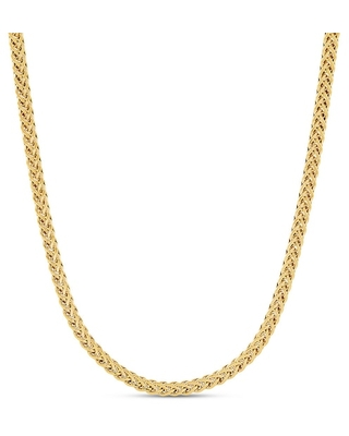 """Jared The Galleria Of Jewelry Wheat Chain Necklace 14K Yellow Gold 18"""""""