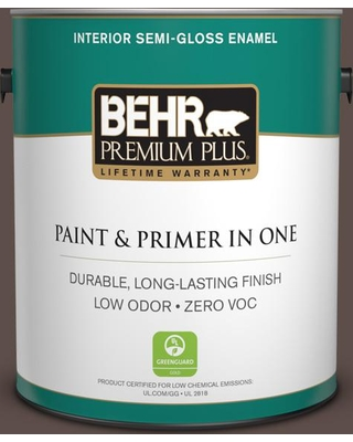 BEHR Premium Plus 1 gal. #MQ2-35 Cabin in the Woods Semi-Gloss Enamel Low Odor Interior Paint and Primer in One