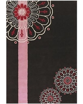 "East Urban Home Black/Pink Area Rug ESUM1004 Rug Size: Rectangle 7'9"" x 10'6"""