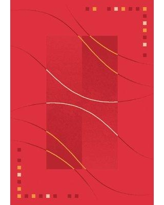 """Astoria Grand Shryock Caliente Rouge Red Area Rug W000826142 Rug Size: Oval 3'10"""" x 5'4"""""""
