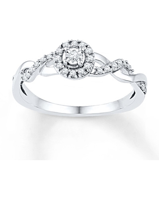 23ae11d7fc454 Don't Miss This Deal: Diamond Promise Ring 1/6 ct tw Round-cut 10K ...