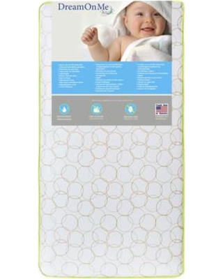 """Dream On Me Bedtime 2-Sided 6"""" Crib and Toddler Mattress 151-150"""