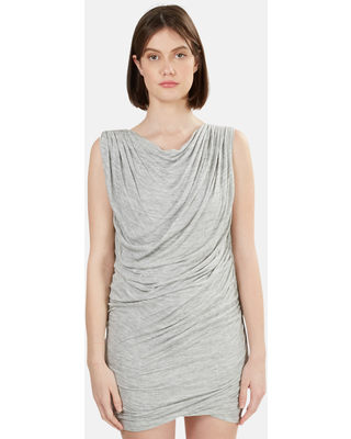 Women's Wayne Ruched Dress in Grey, Size Small