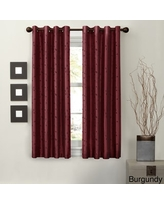Maytex Jardin Faux Embroidered 63-inch Blackout Curtain Panel - 54 x 63 (Burgundy - Blackout)
