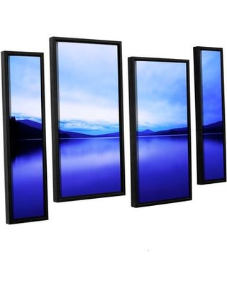 """ArtWall Oregon-Odell Lake by Dan Wilson 4 Piece Framed Photographic Print on Canvas Set 0wil016i3654f / 0wil016i2436f Size: 36"""" H x 54"""" W x 2"""" D"""