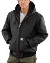 Carhartt Men's Quilted Flannel Lined Duck Active Jacket - 4XL - Black