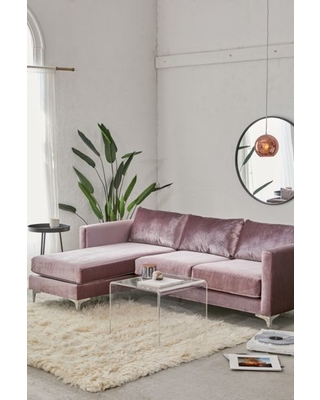 Astounding Urban Outfitters Chamberlin Velvet Sectional Sofa Purple At Urban Outfitters From Urban Outfitters Us Myweddingshop Pabps2019 Chair Design Images Pabps2019Com