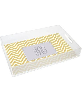 Kelly Hughes Designs Everyday Tabletop Chevron Lucite Tray tray954