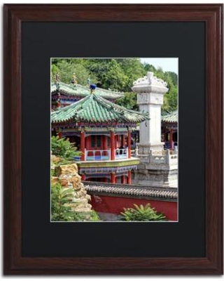 "Trademark Art ""Meditation"" by Philippe Hugonnard Framed Photographic Print PH0294-W1 Matte Color: Black Size: 20"" H x 16"" W x 0.5"" D"