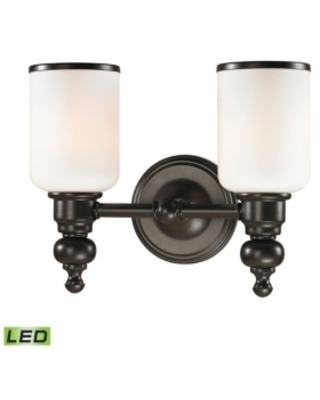Bristol Collection 2 light bath in Oil Rubbed Bronze - Led, 800 Lumens (1600 Lumens Total) with Ful
