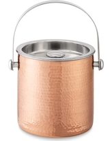 Hammered Copper Ice Bucket With Lid