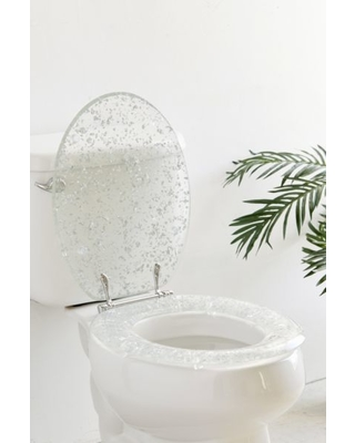 Awesome Amazing Deal On Metallic Flecked Toilet Seat Silver L At Cjindustries Chair Design For Home Cjindustriesco