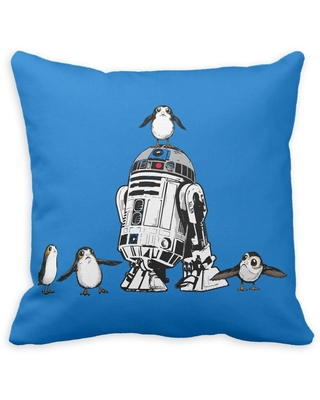 R2-D2 and Porgs Pillow Star Wars: The Last Jedi Customizable Official shopDisney