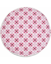 Greendale Home Fashions Quatrefoil Cotton Canvas Throw Pillow TP5224- Color: Pink
