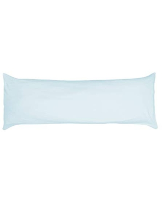 Betty Dain Stretch Jersey Body Pillowcase, 100% Knit Cotton, Soft Covering for Body Pillow, Dual Zippers for Easy Off/On, Machine Washable, Fits Most Body Pillow Styles, 21 x 54 inches, Blue