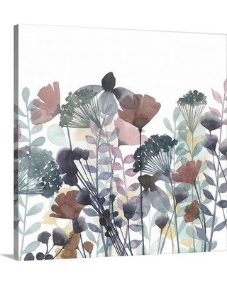 "Great Big Canvas 'Winsome Flora I' Grace Popp Graphic Art Print 2394932_1_ Size: 12"" H x 12"" W x 1.5"" D Format: Canvas"