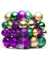 Queens of Christmas 62 Piece Ball Ornament Set WL-ORN-62PK-GPG