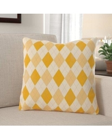 Find Savings On South Ferry Lattice Square Throw Pillow Winston Porter Size 20 X 20 Location Indoor Color Yellow