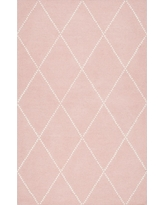 Pink Solid Tufted Area Rug - (5'x8') - nuLOOM