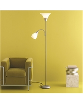 Torchiere Floor Lamp with Task Light Silver - Room Essentials