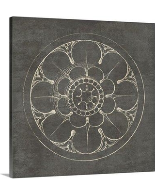 "Great Big Canvas 'Rosette III Graphic Art Print in Gray 2416567_1 Size: 30"" H x 30"" W x 1.5"" D Format: Canvas"