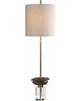 Uttermost Kiota Brushed Brass Plated Buffet Table Lamp