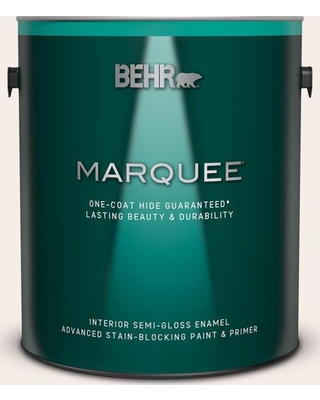 BEHR MARQUEE 1 gal. #W-B-110 Soft Lace Semi-Gloss Enamel Interior Paint and Primer in One