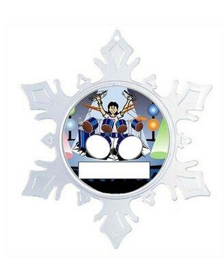 The Holiday Aisle® Personalized NTT Cartoon Snowflake Drummer Christmas Holiday Shaped Ornament X111286804