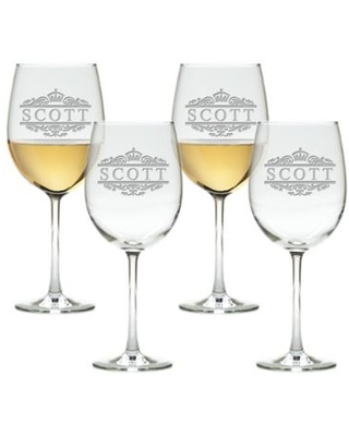 Carved Solutions Scott Tulip Wine Glasses (Set of 4)