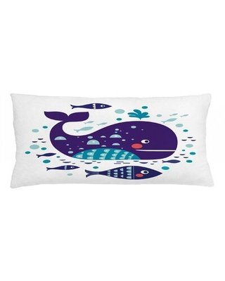 """Whale Indoor / Outdoor Lumbar Pillow Cover East Urban Home Size: 16"""" x 36"""""""