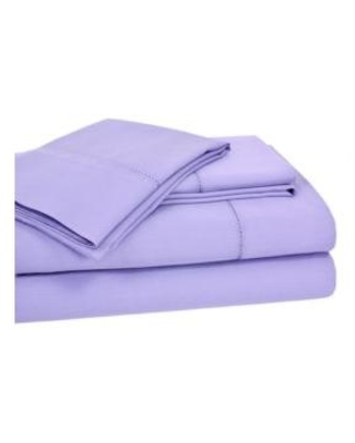 Elite Home Products Lilac Hemstitch Solid Sheet Set